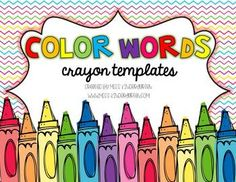 Color Words Crayon Templates