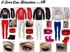 """""""One Direction ! ;D"""" by aileen-rodriguez ❤ liked on Polyvore"""