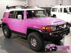 PINK Toyota FJ Cruiser - YES PLEASE!