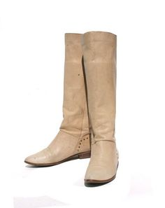 Cool Riding Boots - love the neutral color and studs near the heels
