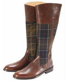 Women's Barbour Tartan Boots