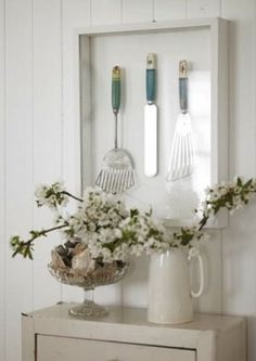 Frame Up Family Heirloom or Old Favourite Kitchen Utensils and Display in Kitchen area.