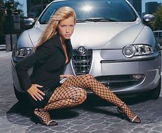 Women & Alfas - Page 49 - Alfa Romeo Bulletin Board & Forums Sexy Cars, Hot Cars, Car Girls, Pin Up Girls, Sexy Autos, Pinup, Rich Girls, Up Auto, Alfa Alfa
