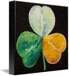 """Irish Shamrock"" by Michael Creese,  // Original oil on canvas painting by American artist Michael Creese. // Imagekind.com -- Buy stunning fine art prints, framed prints and canvas prints directly from independent working artists and photographers."