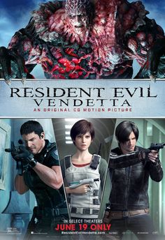 The official website for Comic-Con International is listing that the convention will host a panel for the Resident Evil: Vendetta CG-animated film fea. Streaming Movies, Hd Movies, Movies Online, Movie Tv, Hd Streaming, 2017 Movies, Resident Evil, Dead Space, Leon S Kennedy