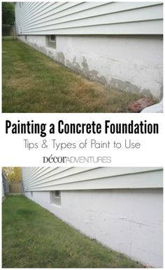 22 Ideas landscaping around house foundation how to build House Siding, House Paint Exterior, Exterior Siding, Exterior Paint Colors, Exterior House Colors, Paint Colors For Home, Exterior Design, Exterior Concrete Paint, Painting Concrete Walls