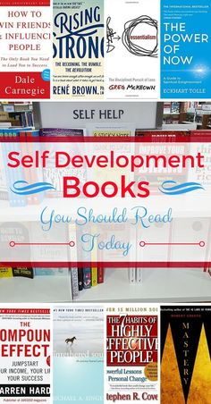 Over 16 self development books you should be reading today. This list will give you lots to think about. Pin this to your favourite books board