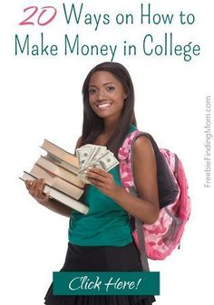 20 Ways on How to Make Money in College - These are great, flexible jobs that are ideal for college students. college student tips #college #student  college student resources, college tips #college
