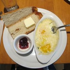 Rose's Bakery & Cafe - Eastsound, WA, United States. Baked Eggs w/ baguette & jam - DELICIOUS!!!