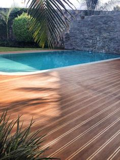 Bamboo decking treated with Decking Oils (013 Garapa Oil) in Peru.