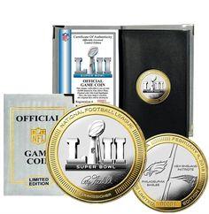 New England Patriots Highland Mint Super Bowl LII Dueling Two-Tone Coin Eagles Gear, Eagles Vs, Super Bowl 52 Logo, Nfc Teams, Philadelphia Eagles Super Bowl, Nfl Gear, Bowl Game, Mint Coins, National Football League