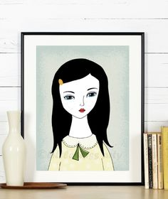 bild  portrait mädchen von *little miss arty*  - illustrationen auf DaWanda.com