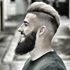 High Fade with Hard Part and Textured Slick Back