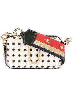 MARC JACOBS Polka Dot Snapshot camera bag. #marcjacobs #bags #shoulder bags #leather #