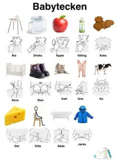Babytecken-arkiv - Tecken som stöd - Toppbloggare på Womsa Baby Hacks, Sign Language, Pre School, Autism, Fun Facts, Montessori, Teaching, Activities, Education