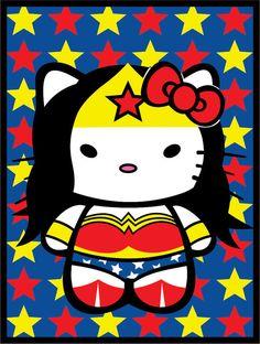 Wonder Woman Hello Kitty!