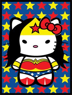 Wonder Woman Hello Kitty!