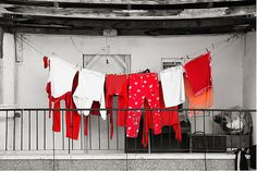 'Red laundry' Art Print by Abba Richman Laundry Lines, Laundry Art, Laundry Room, Line Photography, Laptop Wallpaper, Lost Art, Crossed Fingers, Rich Man, How To Run Longer
