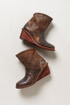 Perforated Wedge Booties by Bed Stu