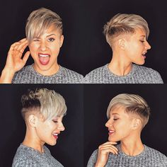 85 New Best Pixie Cut Ideas for 2019 Best Pixie Cuts, Cute Pixie Cuts, Blonde Pixie Cuts, Short Pixie Haircuts, Hairstyles Haircuts, Short Hair Cuts, Short Hair Styles, Popular Hairstyles, Shaved Pixie Cut