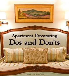 Apartment decorating can be a fun project to take on; you just have to know what to do and what not to do when it comes to interior design. Here are a few decorating tips to making your apartment look flawless. [Rent.com Blog]