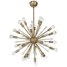 FREE SHIPPING. Purchase the mid-century modern sputnik style Galea Chandelier in Warm Brass today at lightingconnection.com. Savoy House 7-6099-24-44