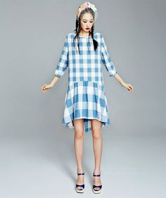 Fleamadonna ss14.  Such a winning shape and love the two different sizes of matching gingham.