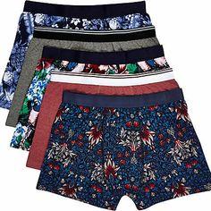 Mixed tropical floral print boxer shorts £22.00