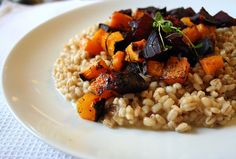 Senses in the kitchen: Barley risotto with roast pumpkin & beets