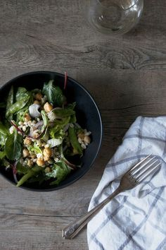 Chickpea and Dill Barley Salad with Grilled Fennel & Snap Peas