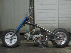 Antique Motorcycles, Custom Motorcycles, Custom Bikes, Cars And Motorcycles, Motorcycle Types, Cafe Racer Motorcycle, Motorized Trike, Mini Chopper, Bike Pic