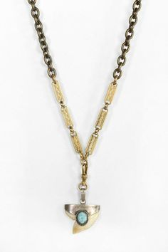 Lux Revival Capped Shark Tooth Necklace