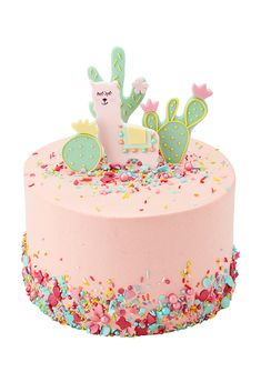 Lucky Llama Inch Single Tier (Image shown, 10 large Slices or 20 Party Portions) / Red Velvet - Lama cake - Harry Potter Torte, Digger Cake, Peggy Porschen Cakes, Cloud Cake, Cactus Cake, Cake Show, Cake Sizes, Star Cakes, Dinosaur Cake