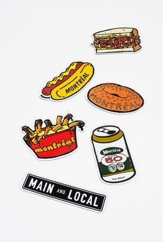 Montreal Snack Pack Fridge Magnets - Main and Local Magnets, Snack Pack, Packing, Snacks, Fun, Bonjour, Bag Packaging, Fin Fun, Treats