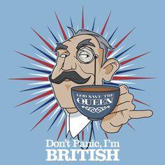 Don't Panic I'm British T-shirts, Bally Good Show!