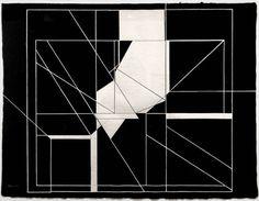 Pablo Palazuelo (Spanish, 1916 – 2007), Trazas del cuatro, Variación 7 [four traces, variation 7], 1987, gouache on paper.