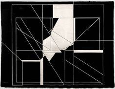 Pablo Palazuelo (Spanish, 1916–2007), Trazas del cuatro, Variación 7 [four traces, variation 7], 1987, gouache on paper.