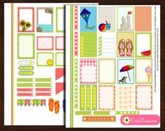 Free Printable Summer and Beach Stickers for Planners