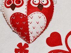 Забавные совы-неразлучницы из фетра - Ярмарка Мастеров - ручная работа, handmade