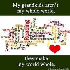 Kadin, Noah, Madyx, & Oliver make my world. Life is fun with them.