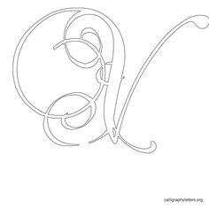 Calligraphy Letter Stencil V
