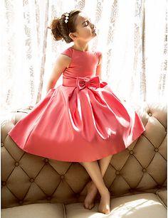 robe de satin fille