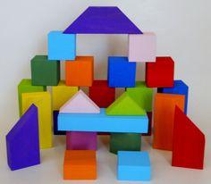 Painted Building Blocks