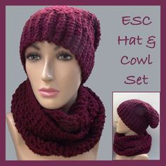 ESC Hat and Cowl Set - Free patterns!