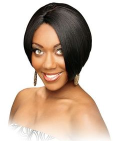 HQ DYNASTY - Zury Human Hair Blend Wig #1B/33 by Royal Imex. $32.90. human hair blended wig. short page style
