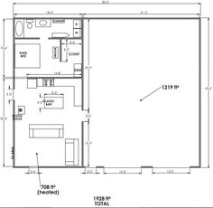 How Can I Price Out This Shop/apartment Plan? ETA: Critique My .