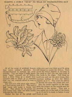"""It's not too late! Here is a marvelous tip from Ruth Wyeth Spears and the 1920s for a curly """"mum"""" that you can wear on Thanksgiving Day. All..."""