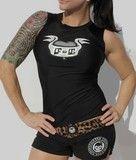 Rash guard and swim shorts for women http://www.fightergirls.com/shop/ #fightergirls #MMA #sportswear #shorts #shirt #clothes