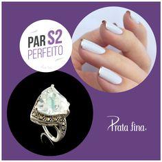 #ParPerfeito: OMG! Que combinação delicada, elegante e cheia de glamour.  Anel com Zircônia e Marcassita: http://pol.vu/17y