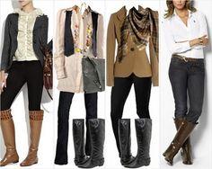 Como acrecentar estilo ao usar calça legging com bota montaria